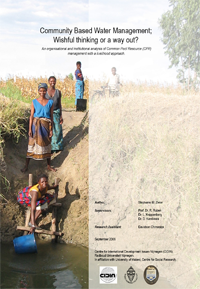 Cover - Community Based Water Management